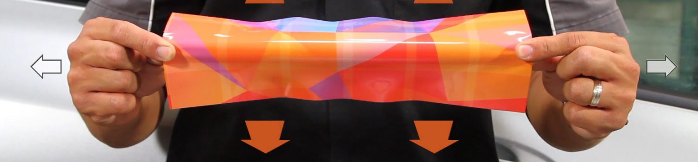 Vinyl Stretch Outward - Vehicle Application - WrapItRight